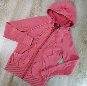 REI hooded knit sweater